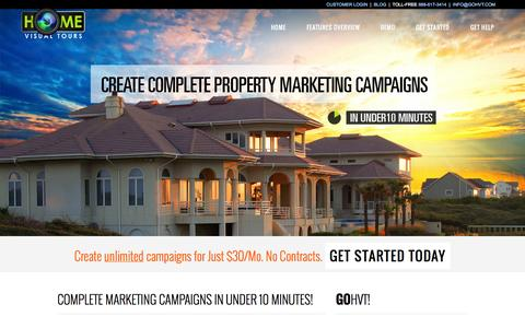 Screenshot of Home Page gohvt.com - Home Visual Tours™ – Complete Property Marketing Campaigns   - captured Oct. 2, 2014