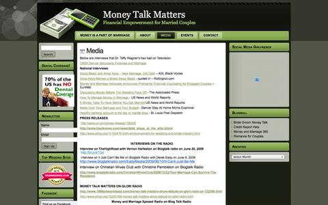 Screenshot of Press Page moneytalkmatters.com - Money Talk Matters: Media - captured Oct. 7, 2014