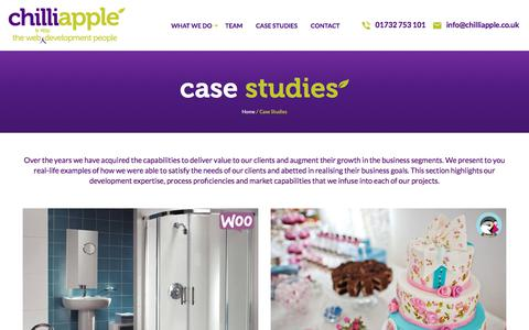 Screenshot of Case Studies Page chilliapple.co.uk - Case Studies - ChilliApple - Web Design & Development Agency - captured July 29, 2017