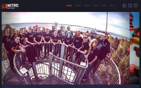 Screenshot of Home Page nitrogames.com - Nitro Games - captured Oct. 7, 2014