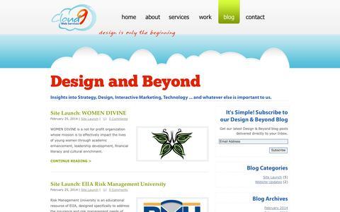 Screenshot of Blog cloud9webservices.com - Cloud 9 Web Services Blog | design is only the beginning - captured Sept. 30, 2014