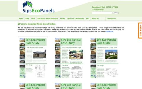 Screenshot of Case Studies Page sipsecopanels.co.uk - Structural Insulated Panel Case Studies < Sips Eco Panels - captured Oct. 29, 2014