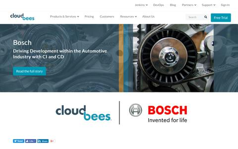 Screenshot of Case Studies Page cloudbees.com - Bosch: Driving Development within the Automotive Industry with CI and CD | CloudBees - captured Aug. 8, 2018