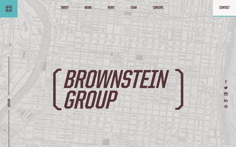 Screenshot of Home Page brownsteingroup.com - Brownstein Group - captured Feb. 15, 2018