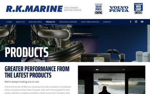Screenshot of Products Page rkmarine.co.uk - A range of products for boat owners and operators   RK Marine - captured Oct. 19, 2018