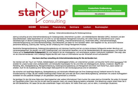 Screenshot of Home Page start-up-berater.de - Unternehmensberatung - Existenzgründungsberatung start!up - captured Jan. 23, 2015