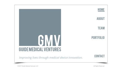 Screenshot of Home Page guidemedicalventures.com - Guide Medical Ventures - captured May 25, 2017