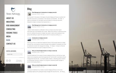 Screenshot of Blog soteradvisors.com - Soter Advisors |   Blog - captured Oct. 7, 2014
