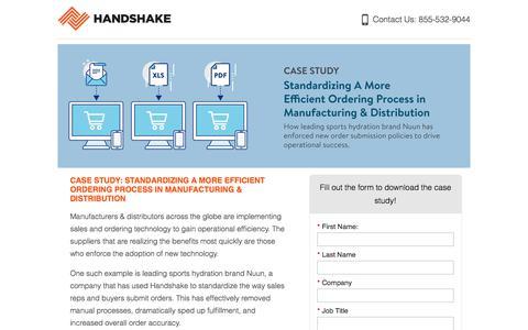 Screenshot of Landing Page handshake.com captured July 1, 2017