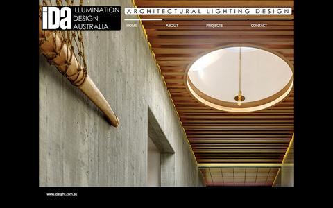 Screenshot of Home Page idalight.com.au - ida-lighting-design - captured Oct. 6, 2014