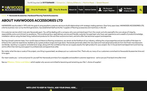 Screenshot of About Page havwoodsaccessories.com - Havwoods Accessories | Hardwood Flooring Tools & Accessories - captured July 23, 2017