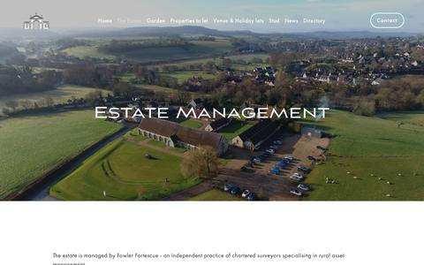 Screenshot of Team Page fonthill.co.uk - Management — The Fonthill Estate - captured Oct. 25, 2018