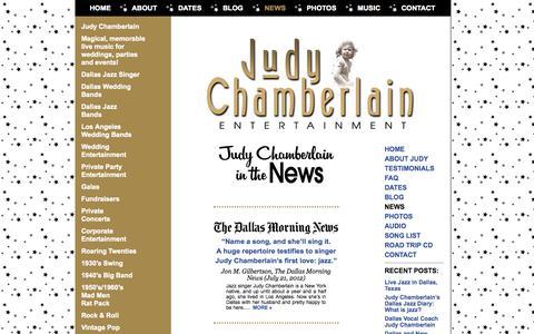 Screenshot of Press Page judychamberlain.com - Judy Chamberlain In The News - captured Oct. 6, 2014