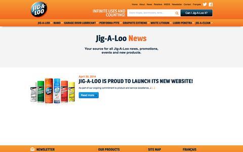 Screenshot of Press Page jigaloo.ca - Jig-A-Loo News - captured Oct. 16, 2017