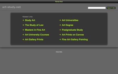Screenshot of Home Page art-study.net - Art-Study.net - captured March 26, 2016