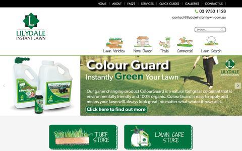 Screenshot of Home Page lilydaleinstantlawn.com.au - Lilydale Instant Lawn - captured Aug. 13, 2017