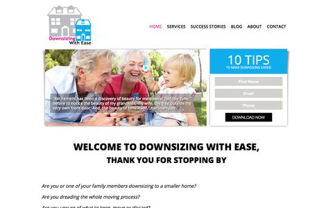 Screenshot of Home Page downsizingwithease.com.au - Downsizing with Ease | - captured Aug. 5, 2018