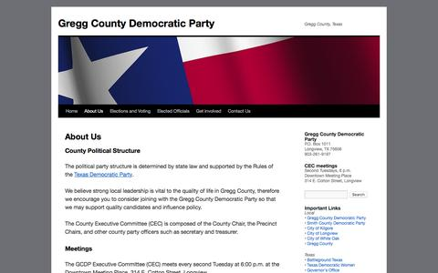 Screenshot of About Page greggcountydemocrats.com - About Us | Gregg County Democratic Party - captured June 17, 2016