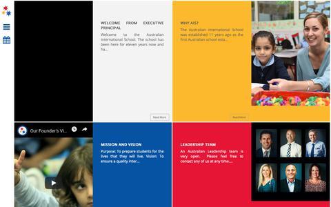 Screenshot of About Page ais.ae - Australian International School - captured Oct. 26, 2018