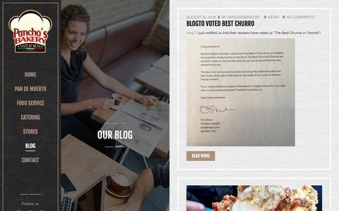 Screenshot of Blog panchosbakery.com - Blog – Panchos Bakery - captured Oct. 20, 2016