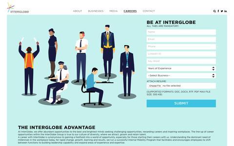 Screenshot of Jobs Page interglobe.com - Career, Jobs at InterGlobe.com - captured Nov. 3, 2016