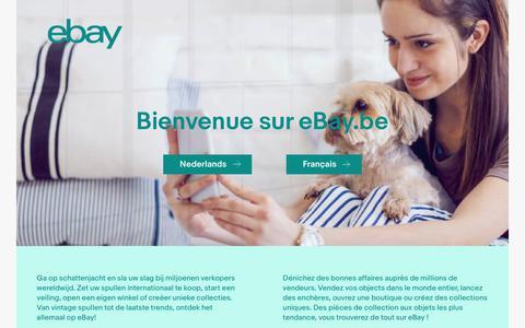 Screenshot of Home Page ebay.be - ebay.be - eBay België, eBay Belgique - captured Aug. 26, 2017