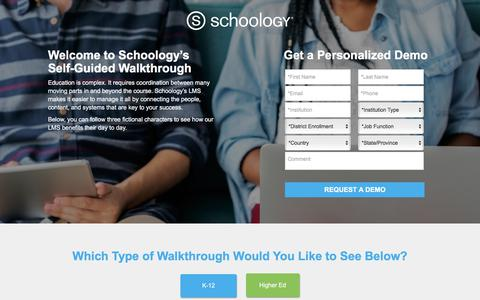 Screenshot of Landing Page schoology.com - See Schoology's LMS in Action! | Schoology - captured Jan. 23, 2018