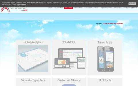 Screenshot of Services Page xenialab.ch - Travel Marketing Services - xenialab - captured Oct. 3, 2017