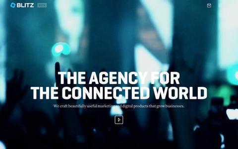 Screenshot of Contact Page blitzagency.com - BLITZ - Full Service Digital Agency with Social Media Agency Capabilities - captured Oct. 15, 2015