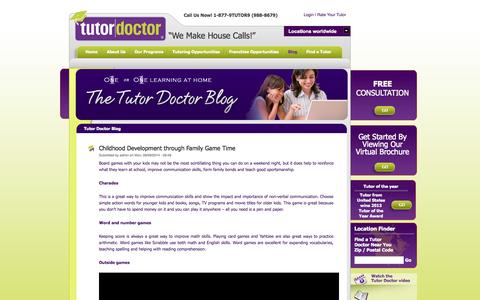 Screenshot of Blog tutordoctor.com - Tutor Doctor In-home tutoring tips — Tutor Doctor - captured Sept. 30, 2014