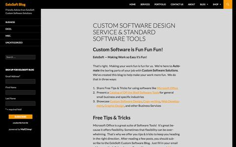 Screenshot of Blog eelosoft.com - Custom Software Design Service & Standard Software Tools | EeloSoft Blog - captured Oct. 2, 2014
