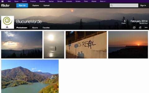 Screenshot of Flickr Page flickr.com - Flickr: BucurieVerde's Photostream - captured Oct. 26, 2014