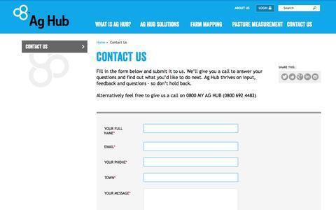 Screenshot of Contact Page aghub.co.nz - Ag Hub | Drop us a line - captured Nov. 19, 2016