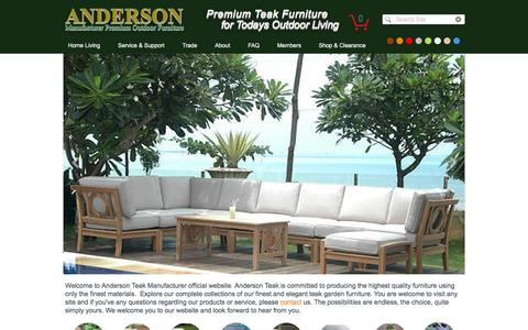 Screenshot of Products Page andersonteak.com - Anderson Teak Patio Manufacturer | Products - captured May 30, 2017