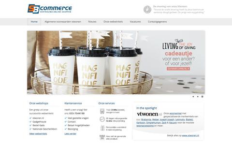 Screenshot of Home Page sbcommerce.nl - E-commerce specialist | SB Commerce BV - captured Sept. 27, 2017