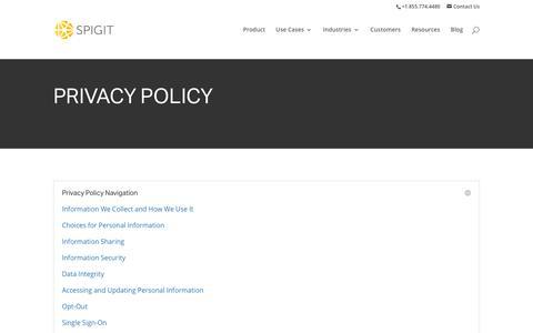 Spigit | Privacy