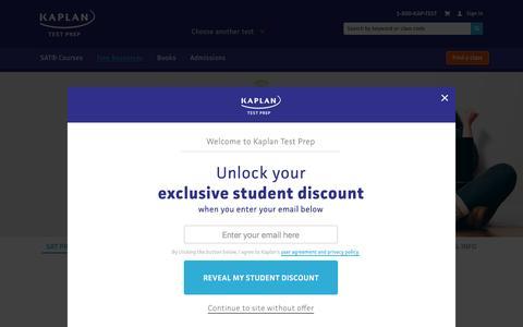 Kaplan SAT Prep | Kaplan Test Prep