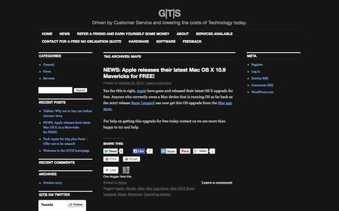 Screenshot of Maps & Directions Page wordpress.com - Maps | G|T|S - captured Sept. 12, 2014