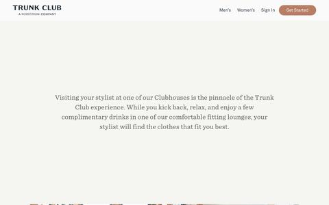 Screenshot of Locations Page trunkclub.com - Trunk Club - Visit Our Clubhouses - captured June 2, 2017