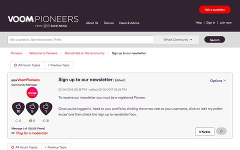 Screenshot of Signup Page virginmedia.com - Sign up to our newsletter - Virgin Media Pioneers - captured June 21, 2017