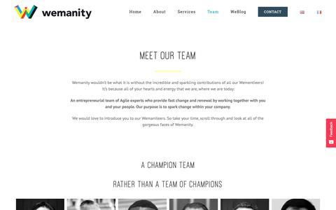 Screenshot of Team Page wemanity.com - Team - Wemanity - captured Feb. 17, 2019