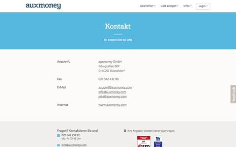 Kontaktdaten auxmoney GmbH