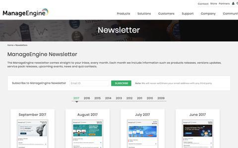 ManageEngine Newsletters