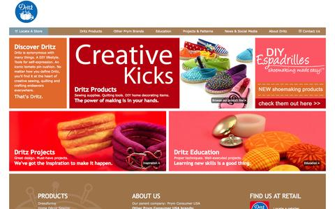 Screenshot of Home Page dritz.com - Dritz Quilting, Sewing & Crafting Supplies - captured Aug. 5, 2015