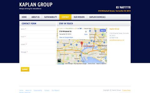 Screenshot of Privacy Page Contact Page kaplangroup.net - Commercial Window Cleaning Melbourne - captured Oct. 23, 2014