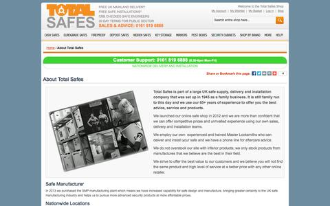 Screenshot of About Page totalsafes.co.uk - About Total Safes | Domestic Safes | Commercial Safes - captured Oct. 9, 2014