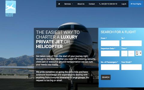 Screenshot of Home Page aviationneeds.com - Aviation Needs - Charter A Luxury Private Jet Or Helicopter With Ease - captured July 31, 2018