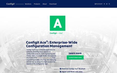 Configit — Ace: Enterprise-Wide Configuration Management.