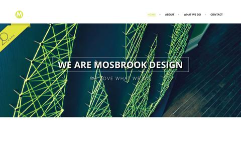 Screenshot of Home Page mosbrookdesign.com - Mosbrook Design - captured Jan. 29, 2015