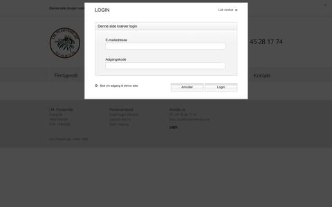 Screenshot of Login Page implantemiljo.dk captured Sept. 30, 2018